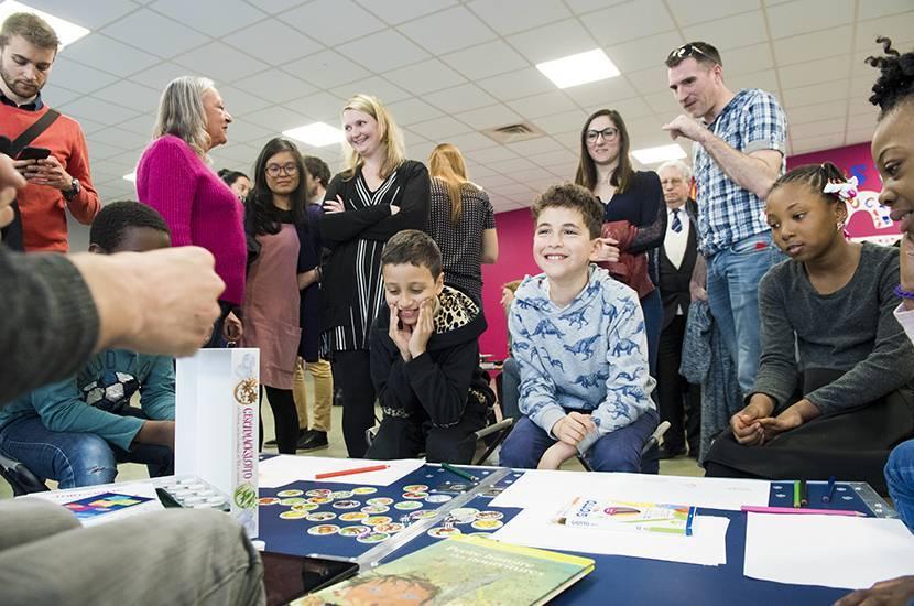 Inauguration de l'Ideas Box à l'école Pauline Kergomard de Sarcelles