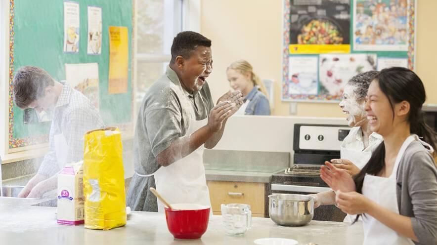 Cours de cuisine pour élèves